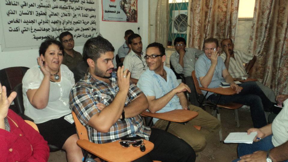 صورة عن ورشة عقدت في بغداد حول حرية التعبير والمخاطر التي تواجهها