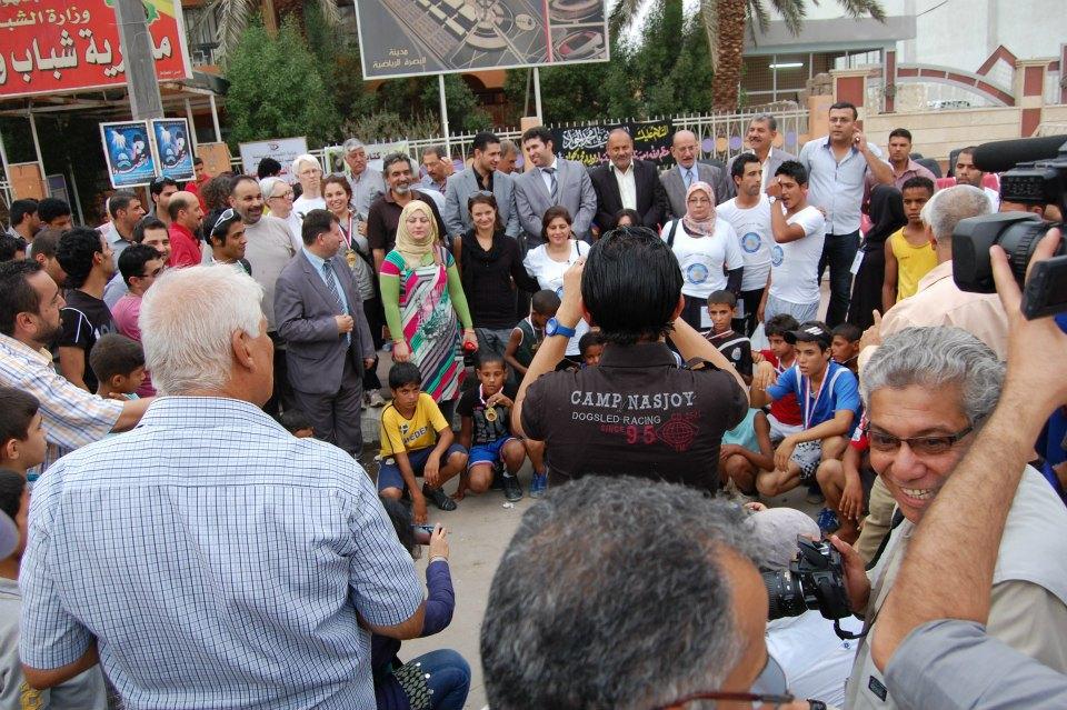 صورة من ركظة السلام في البصرة وعلى هامش افتتاح المؤتمر - 20 تشرين الاول 2012