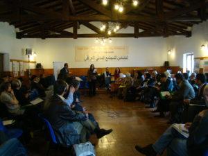 جانب من مؤتمر المبادرة الدولية للتضامن ، الاول في فلتري - روما -ايطاليا