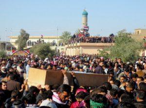 تشييع ضحايا الاحتجاجات في الفلوجة 2013