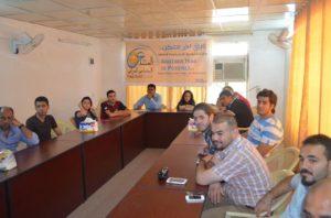 متطوعي المنتدى الاجتماعي العراقي - بغداد تموز 2013