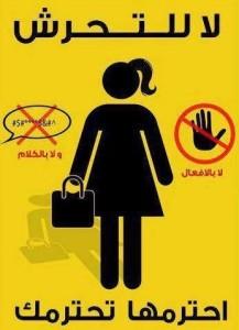 بوستر لحملة ضد التحرش - مصر