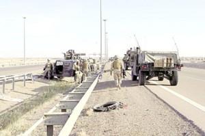 قطعات عسكرية عراقية قرب مدينة الفلوجة 2014