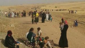 عوائل نازحة من الموصل - حزيران 2014