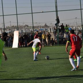 البطولة السنوية الأولى لكرة القدم من اجل التماسك الاجتماعي في مخيم عربت للاجئين