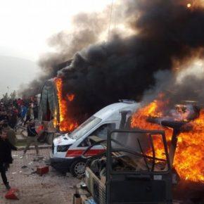 غضب أكراد العراق و احتجاجات عنيفة ضد تركيا