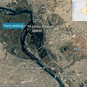 """غرق عبارة في العراق: """"قرابة 100 قتيل"""" في نهر دجلة"""