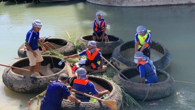 قوارب التراث الثقافي تزين نهر دجلة في بغداد وتحيي جهود الكوادر الطبية لمواجهة فايروس كوفيد-١٩