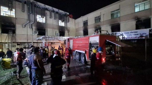 حريق مستشفى كوفيد بالعراق: 82 قتيلا بعد انفجار خزان أوكسجين