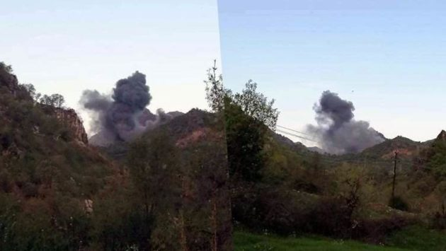 طائرات تركية تشن غارتين قرب إحدى قرى قضاء عقرة في دهوك